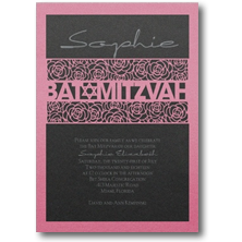 Carlson Craft Contemporary Bat Mitzvah Invitations