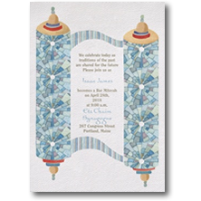 Carlson Craft Religious Bar Mitzvah Invitations