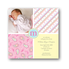 Noteworthy Collections Bliss Digital Photo Birth Announcements