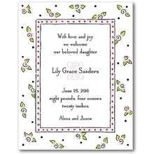 Sweet Pea Designs Birth Announcements
