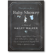Tumbalina Birth Announcements and Shower Invitations a
