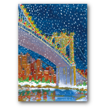 Carlson Craft City Scenes Christmas Greeting Cards