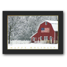 Carlson Craft Custom Printed Patriotic Theme Christmas Greeting Cards