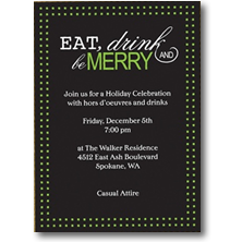 Carlson Craft Christmas Party Invitations