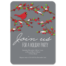 Tumbalina Christmas Party Invitations