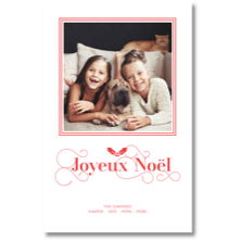 Dabney Lee Letterpress Christmas Stick-on Photo Cards
