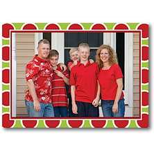 Rosanne Beck Stick-on Christmas Photo Cards