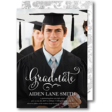 Modern Posh Graduation Announcements and Invitations