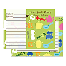 Personalized Kitchen Recipe Cards