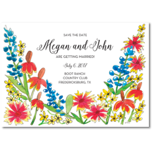 Flower and Vine Save the Date Cards