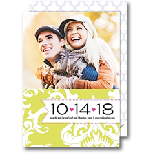 Modern Posh Save the Date Cards