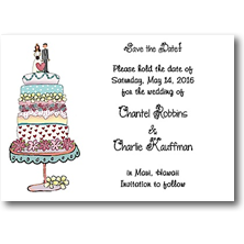 Starfish Art Save the Date Cards