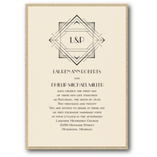 Carlson Craft Art Deco Wedding Invitations