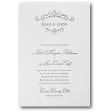 Carlson Craft Letterpress Wedding Invitations