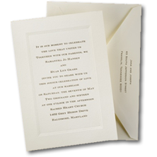 Carlson Craft Traditional Wedding Invitations