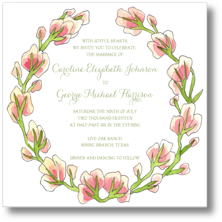 Flower and Vine Wedding Invitations and Save the Date Cards