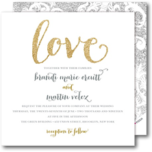 Modern Posh Wedding Invitations and Bridal Shower Invitations